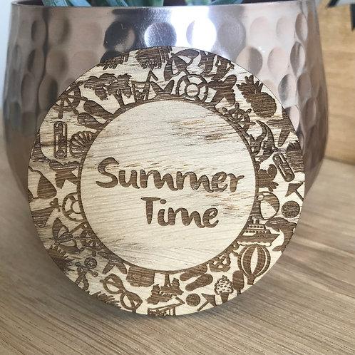 Summer Time - Wooden Disc