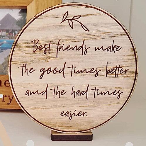 """""""Best friends..."""" Wooden Disc"""
