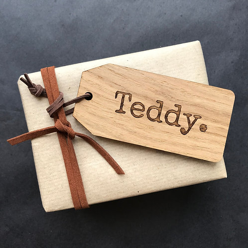 Wooden Personalised Gift Tags