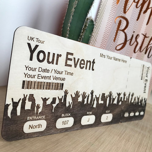 Personalised Wooden Concert / Event Tickets