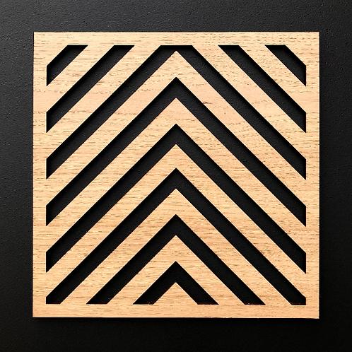 SAMPLE - Wall Panel - Single Square - Oak