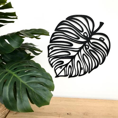 Geometric Monstera Leaf