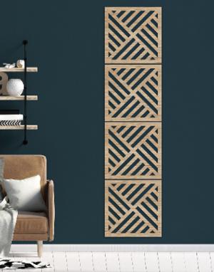 Wall Art Decor Panels - Diagonal Strip