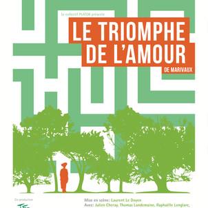 """""""LE TRIOMPHE DE L'AMOUR"""" de Marivaux"""