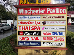 Winchester Pavilion Sign Board