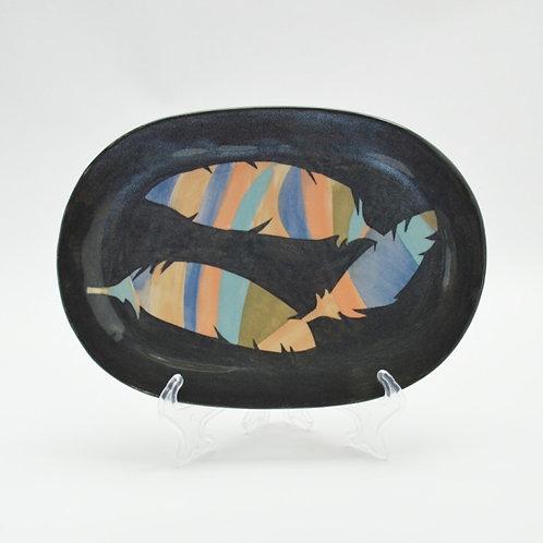 Feather design platter