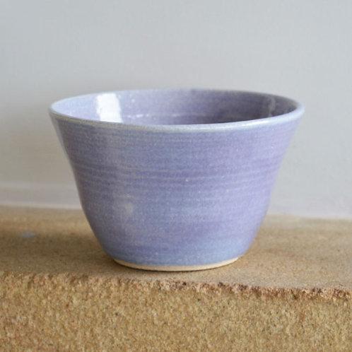 Small mauve stoneware bowl