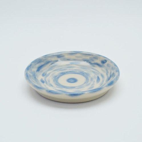 Blue swirl soap dish/trinket dish