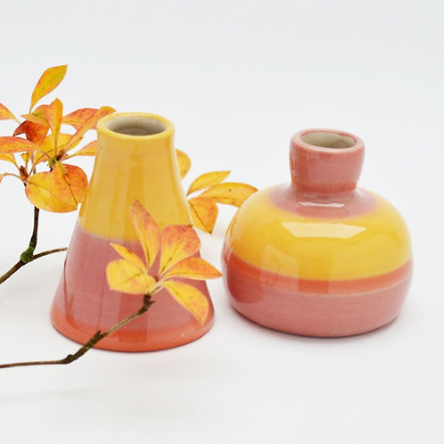 Autumn candle holder duo