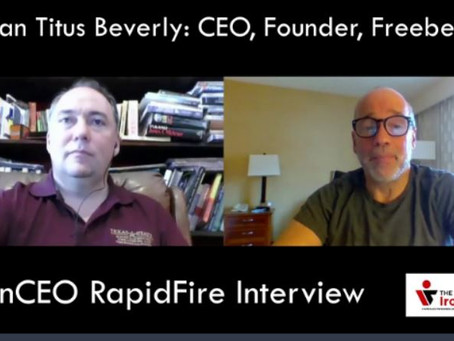 IronCEO RapidFire: Harlan Titus Beverly, Founder, CEO, Freebeer.AI