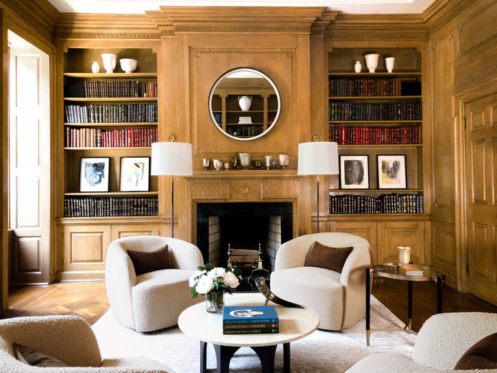 the cappiello_east 67st.library fireplac