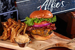 Alfie's Bacon and Cheddar Burger