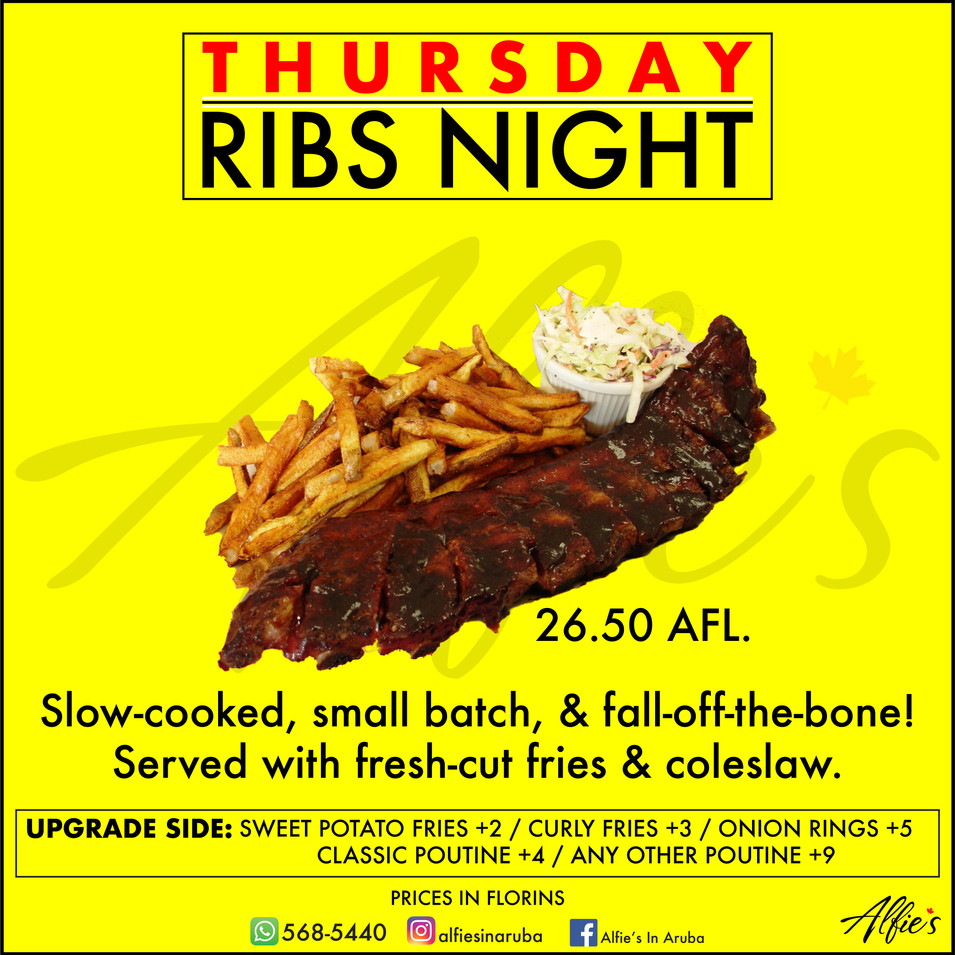 THURSDAY RIBS NIGHT!