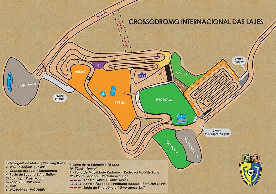 Planta Crossódromo Internacional das Laj