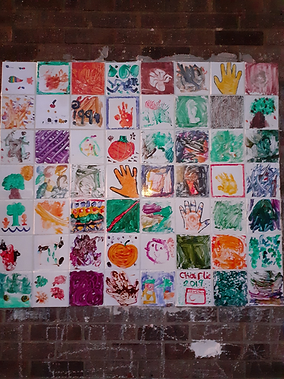 Colnbrook School_wall tiles created by c