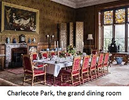 Charlecote Park, grand dining room-with