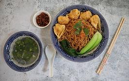 Dry Wonton and Egg Noodles - Mì Hoành Thánh Khô