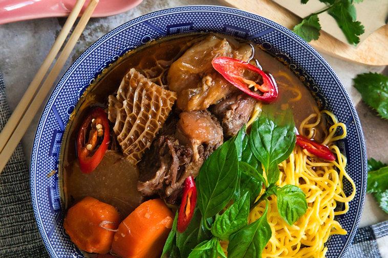 Vietnamese Beef Stew with Pine Mushrooms - Bò Kho
