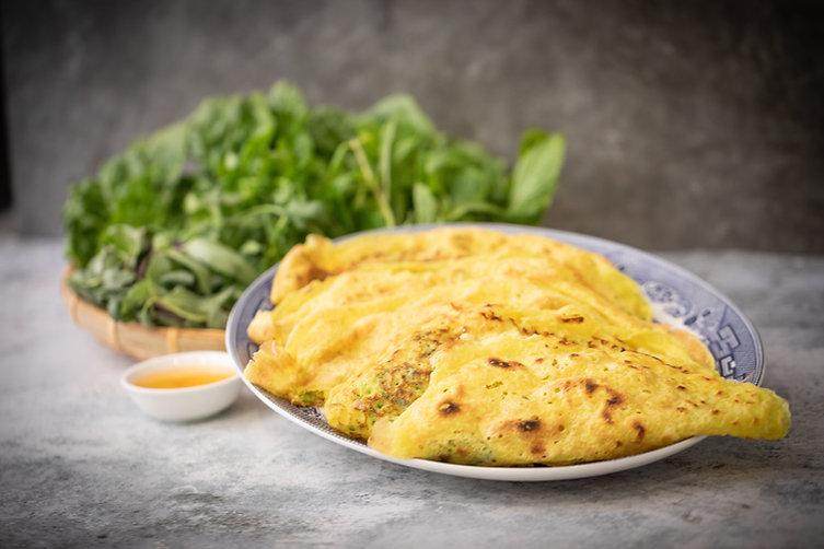 Vietnamese Sizzling Crepe - Bánh Xèo
