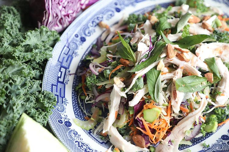 Vietnamese Chicken, Cabbage and Kale Salad