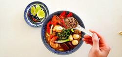 Spanner Crab Tapioca Noodle Soup