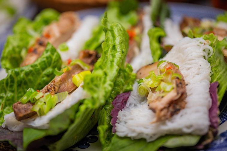 Vietnamese Fish Sauce Chicken Lettuce Wraps