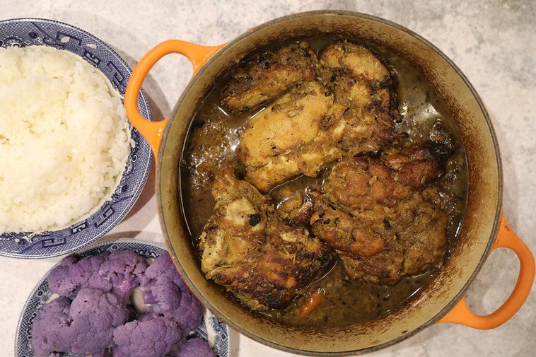 Braised Lemongrass Chicken - Gà Kho Sả Ớt