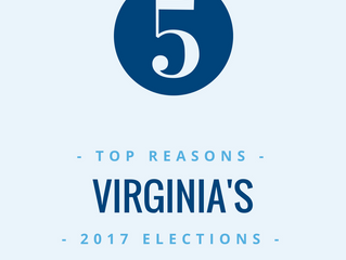 5 Top Reasons Virginia's 2017 Election Matters