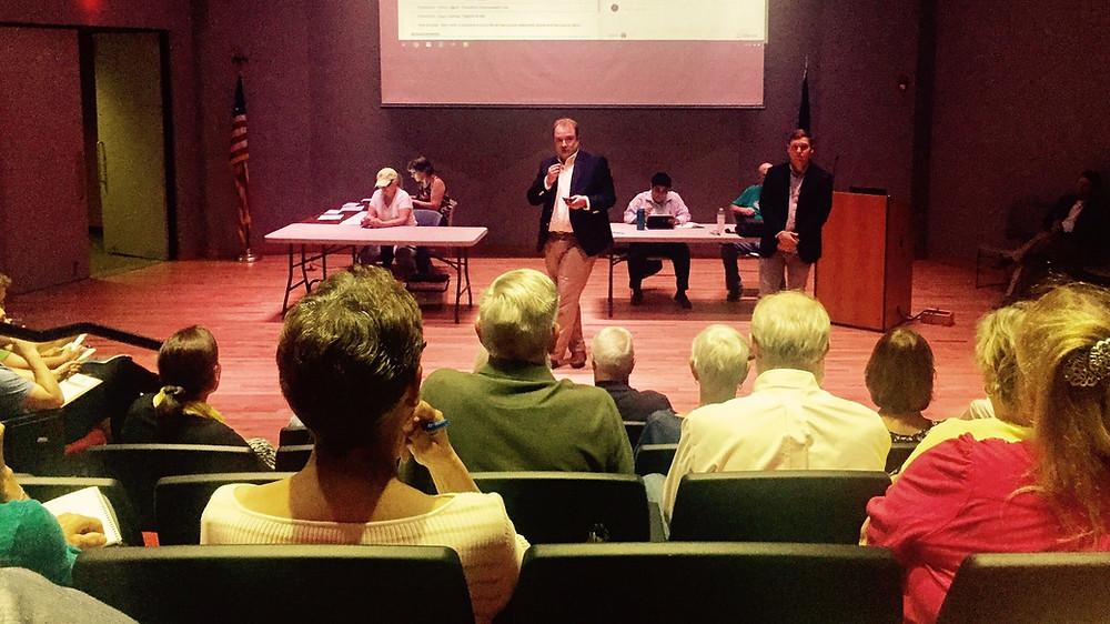 Thomas Bowman and Charlie Jackson address Virginia Beach Democrats