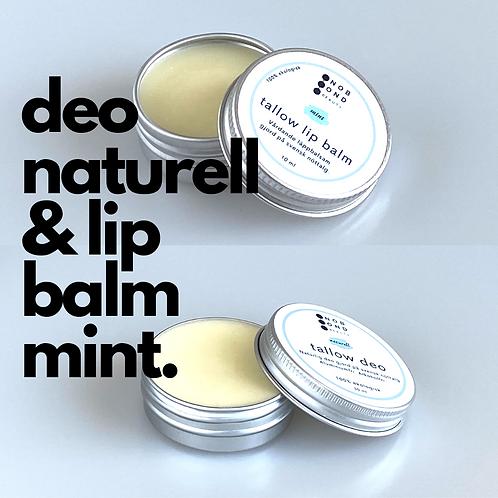 Paket: Deo naturell och Lip balm mint