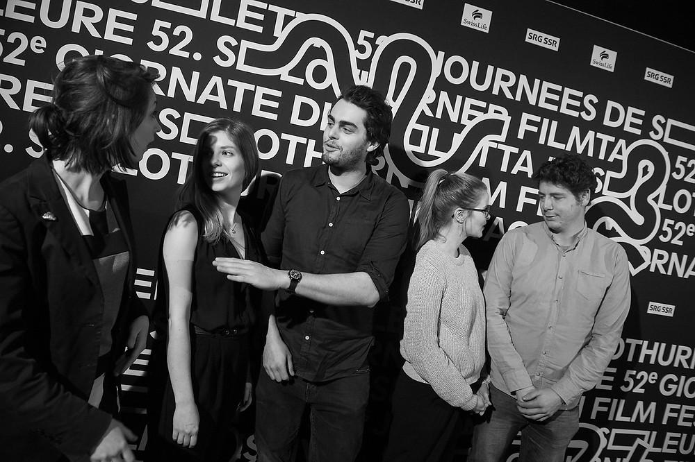Die fünf Regisseure von Peripherie, Wendy Pillonel, Yasmin Joerg, Luca Ribler, Lisa Brühlmann und Jan-Eric Mack