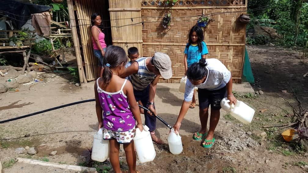 Getting clean water!