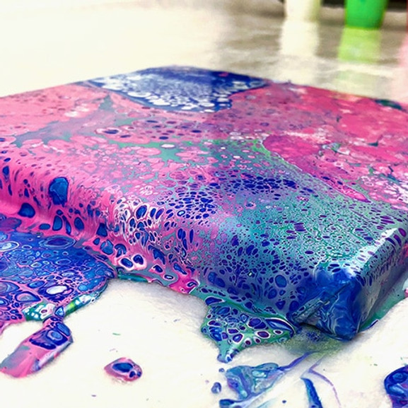 PM Acrylic Pour Painting