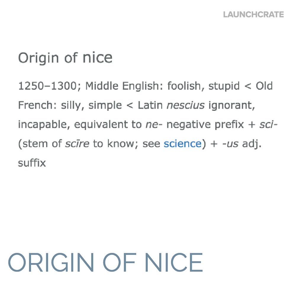 Origin of Nice