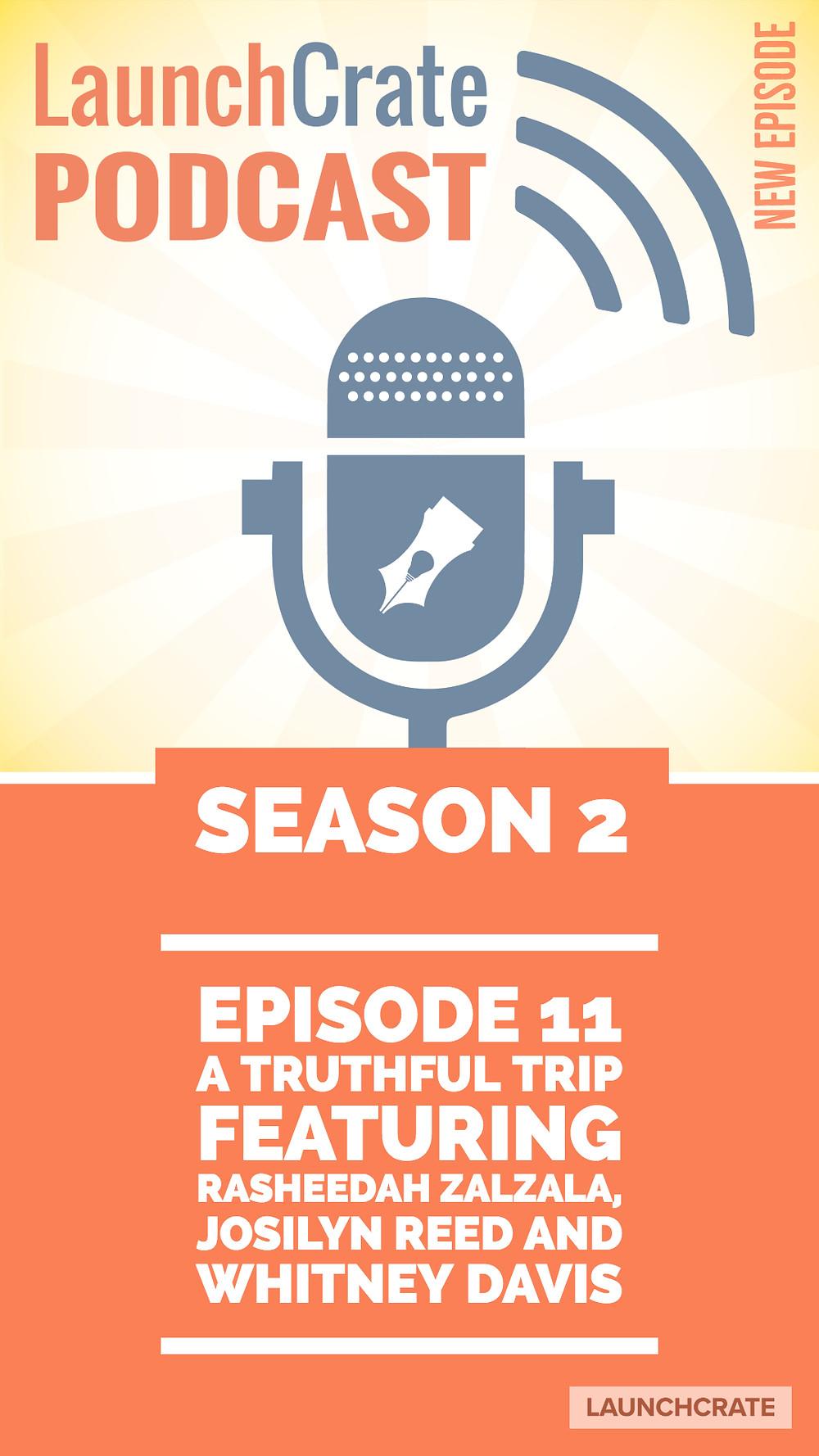 Podcast Season 2, Episode 11, with Rasheedah Zalzala, Josilyn Reed, and Whitney Davis