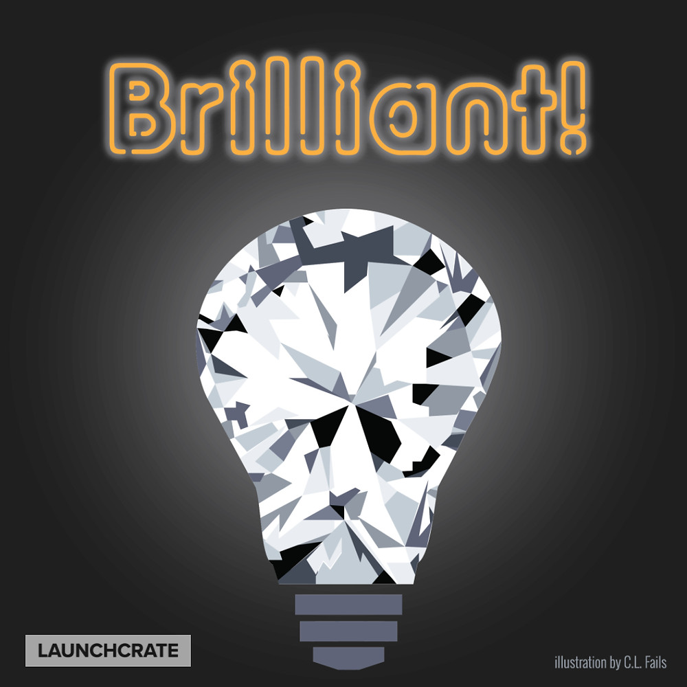 Brilliant Illustration: Lightbulb with facets