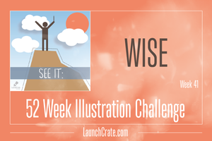 #Go52 Illustration Challenge - Week 41 Theme - Wise