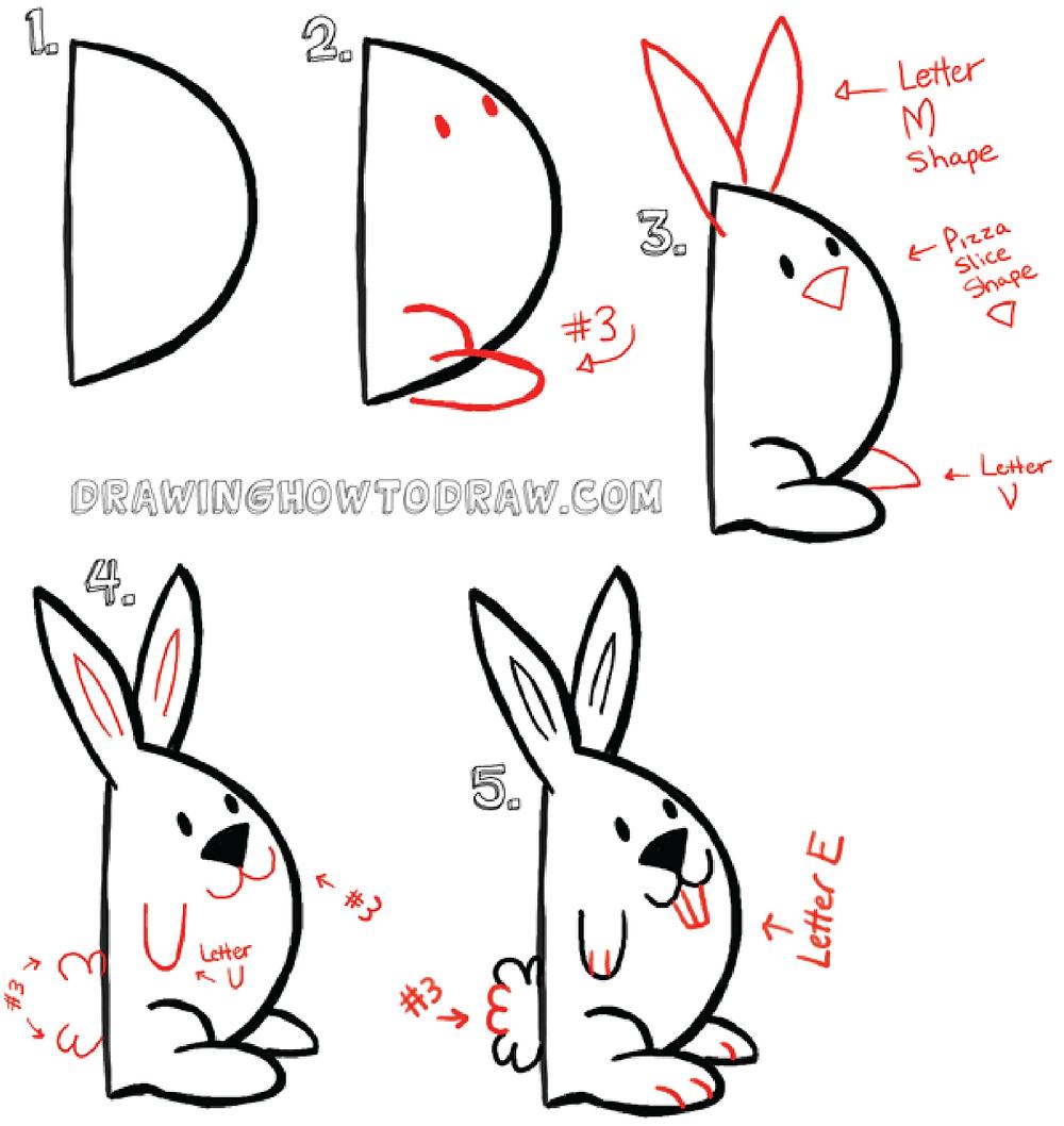 Goal Bunny: Drawinghowtodraw.com