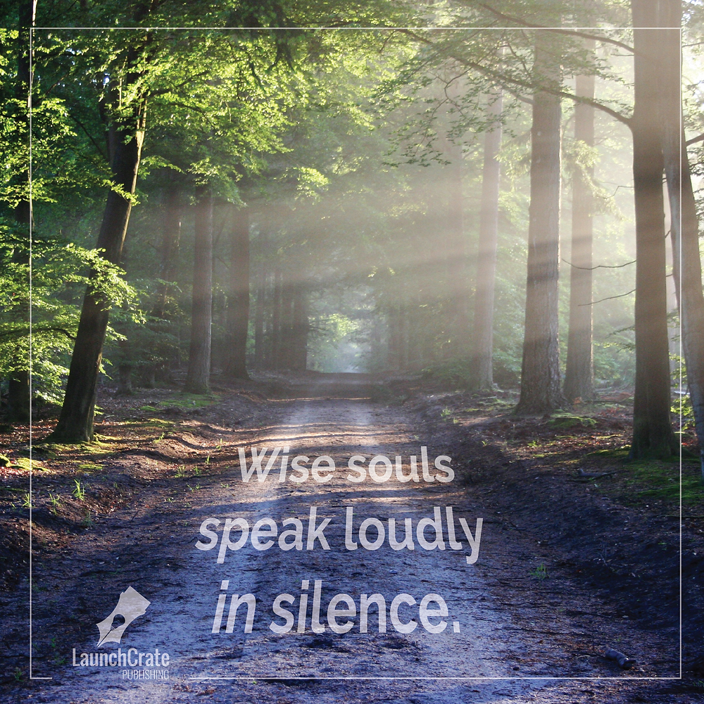 Wise souls speak loudly in silence.