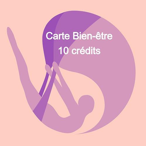 Carte Bien-être 10 crédits