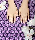 massage champ de fleurs