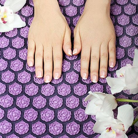Soin massage Tapis de fleurs acupressions