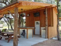 All Cedar Outdoor Kitchen