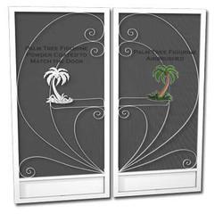 Palm-double door