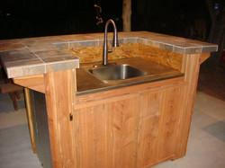Custom Cedar Sink