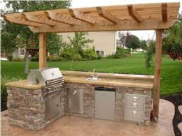 Add a Kitchen to your Pergolas Wayco Services, Cleveland, Tx., Conroe, Tx., The Woodlands, Tx., Kingwood Tx., Dayton Tx., Houston Tx., Humble Tx., Baytown Tx.