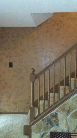 Faux Painted stair wall