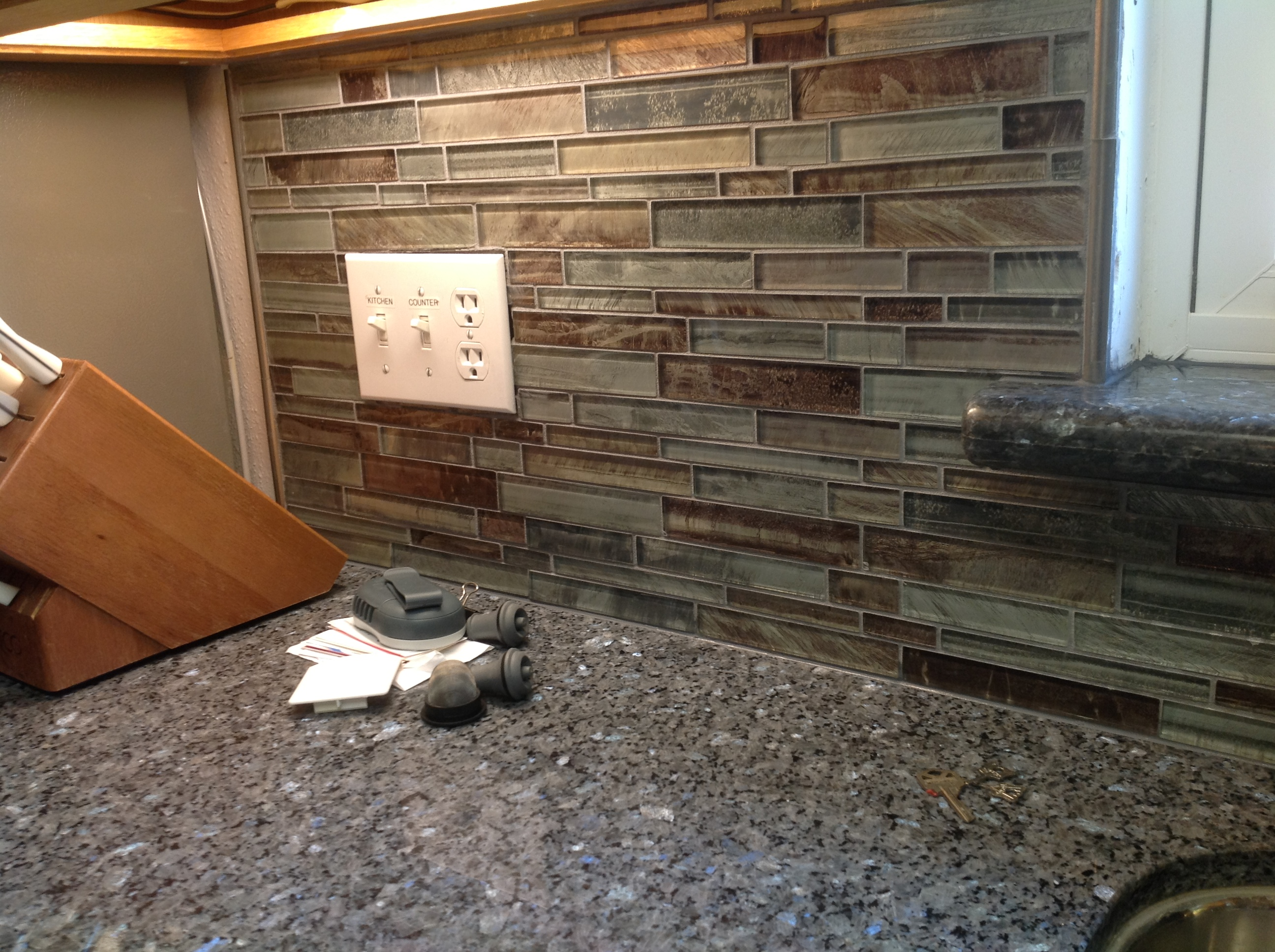 Installed Back Splash