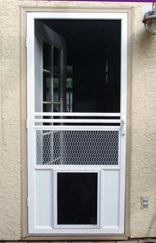 Screen-Door-With-Doggy-Door-As-Retractab