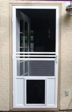 Screen-Door-With-Doggy-Door-As-Retractab